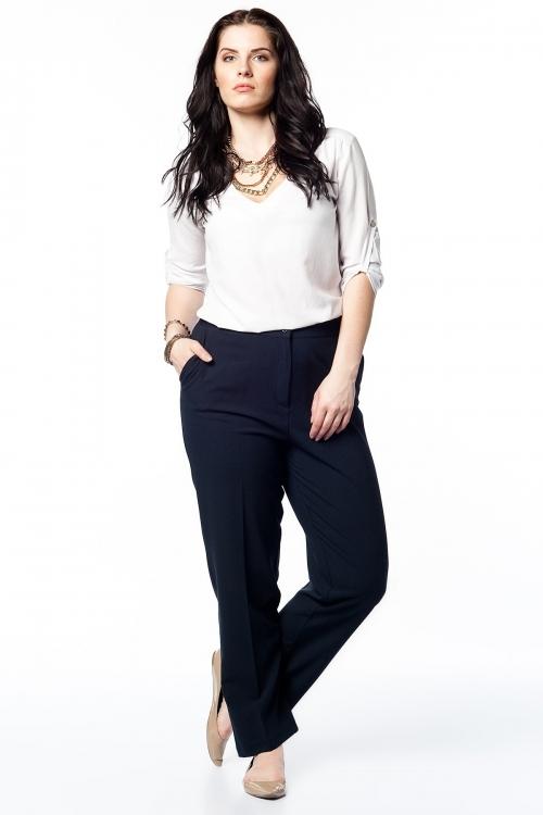 Lacıvert Beli Lastikli Kumaş Pantolon | Pnt16990